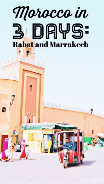 From Rabat to Marrakech by train: Morocco in 3 days
