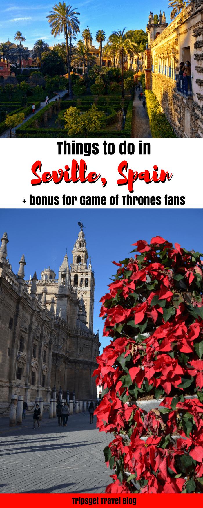 Things to do in Seville, Spain in december. Seville in December. Game of Thrones Spain. Dorne