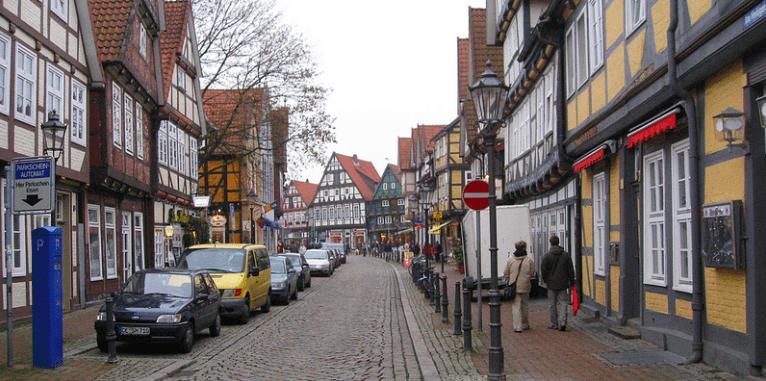 Beautiful town Zelle in Germany