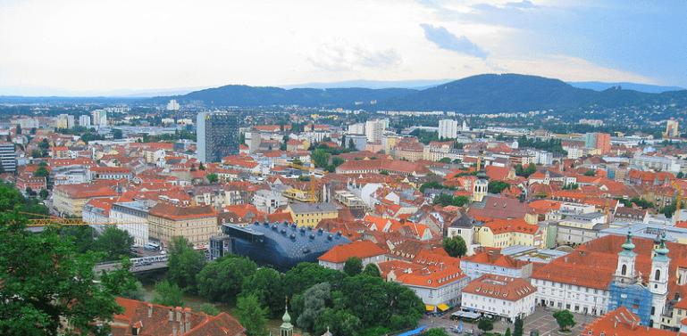 City panorama of Graz, Austria