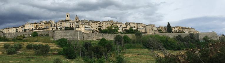 Beautiful medieval town St. Paul de Vence - the city centre