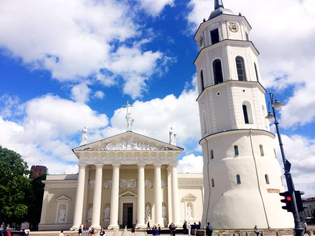 Beautiful city centre of Vilnius, Lithuania