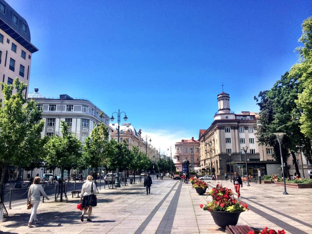 Beautiful city centre of Vilnius, Lithuania