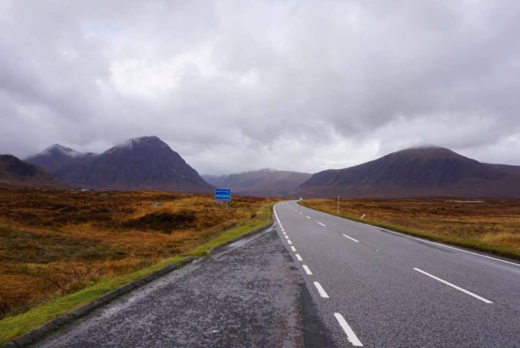Road trip to Highlands Scotland in November - Glencoe,, Loch Lubnaig, Glenfinnan Viaduct and Ben Nevis