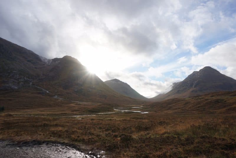 Road trip to Highlands Scotland in November - Glencoe,, Loch Lubnaig, Glenfinnan Viaduct and Ben Nevis