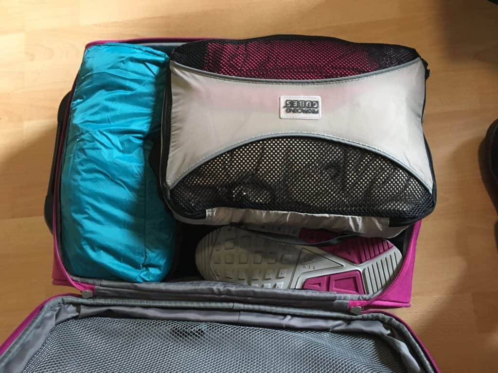 how to pack for a trip with packing cubes