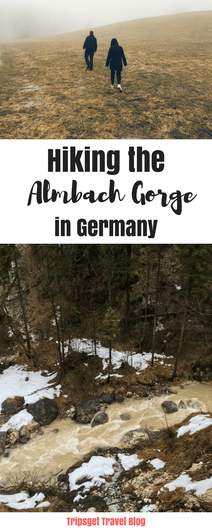 Hiking the Almbachsklamm in Bavaria, Germany. Almbach Gorge. Hiking in Germany.