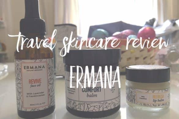 Best travel skincare set - botanical cosmetics by Ermana Natural Skincare