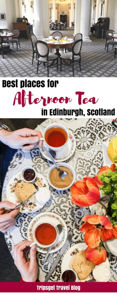 Best afternoon Teas in Edinburgh, Scotland. Best places for afternoon tea in Edinburgh, UK