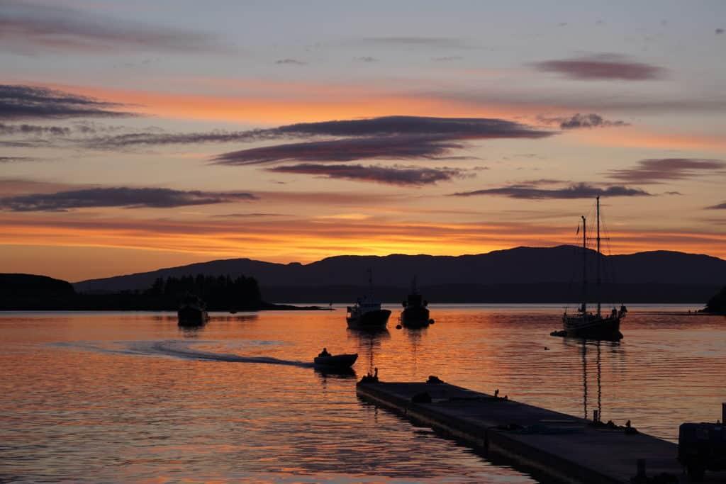 Sunset in Oban - Isle of Skye Road Trip
