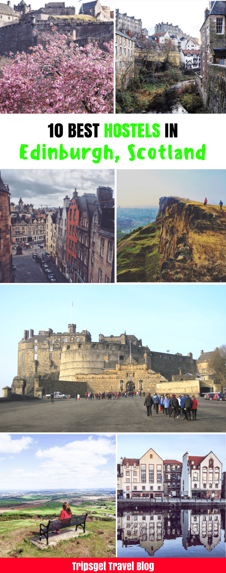 Best hostels in Edinburgh City Centre, Scottish Hostels, Edinburgh on a budget, cheap accommodation in Edinburgh