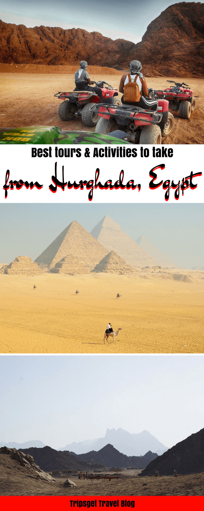 Activities and tours to take from Hurghada, Egypt. Best Hurghada tours. Safari tour. Camel tour. Sahara Desert. Cairo, Luxor, Egypt travel.