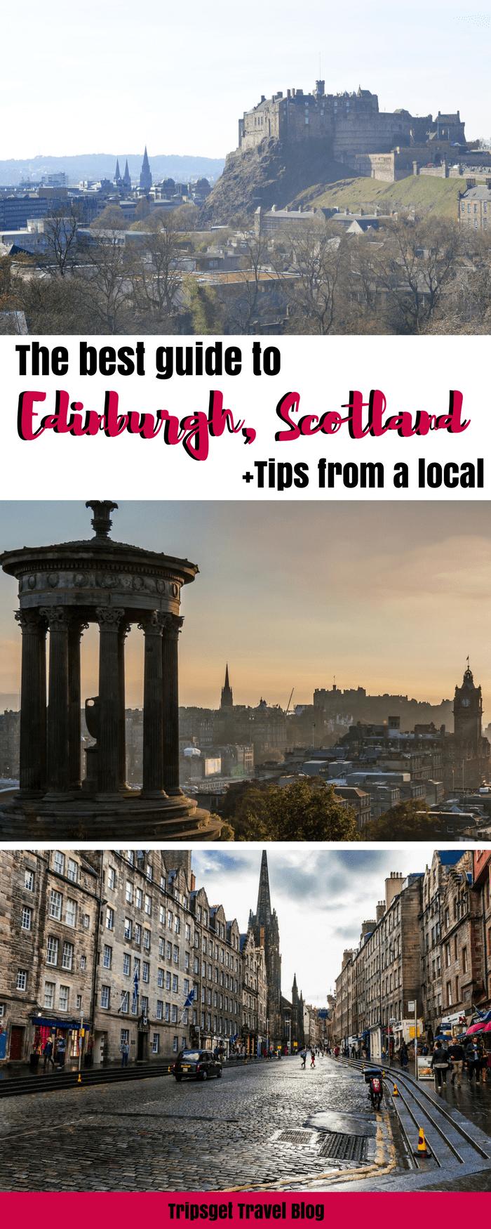 The ultimate guide to Edinburgh, Edinburgh history, Scotland, tips from a local. Edinburgh attractions, Edinburgh travel, Edinburgh castle, Edinburgh Royal Mile, Edinburgh Museums, Edinburgh cafes, Edinburgh food, Edinburgh in summer, Edinburgh in winter