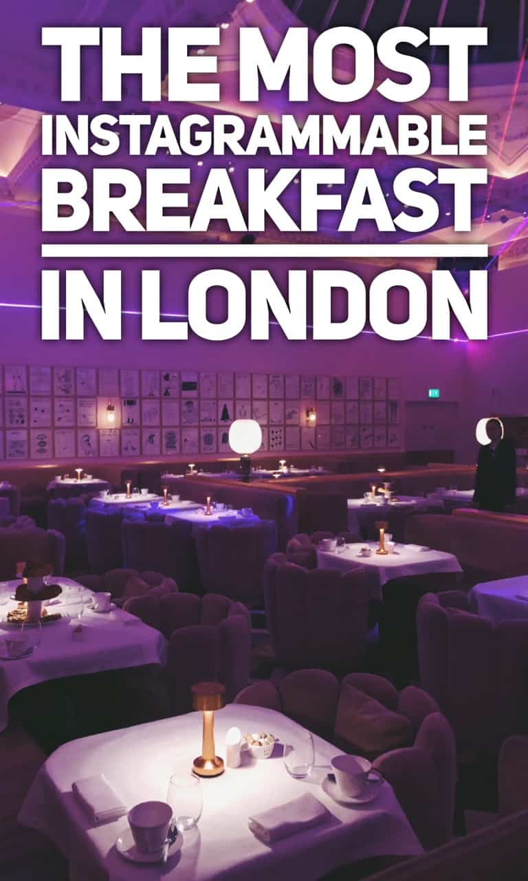 Most instagrammable breakfast in London - sketch Mayfair - best breakfast in London. Spots for breakfast in London