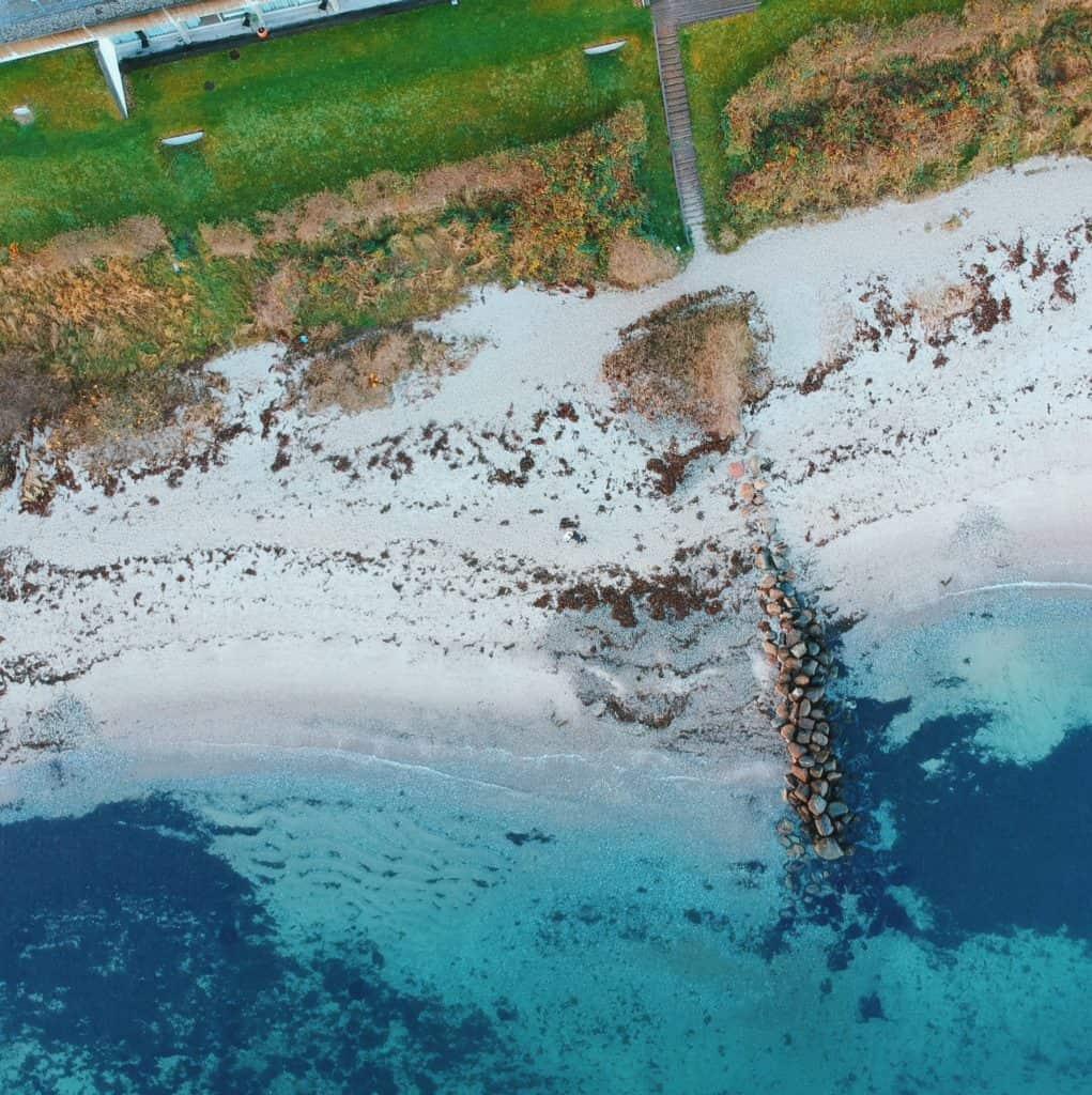 Drone footage - Helnan Marselis Hotel - a quiet paradise in Aarhus, Denmark