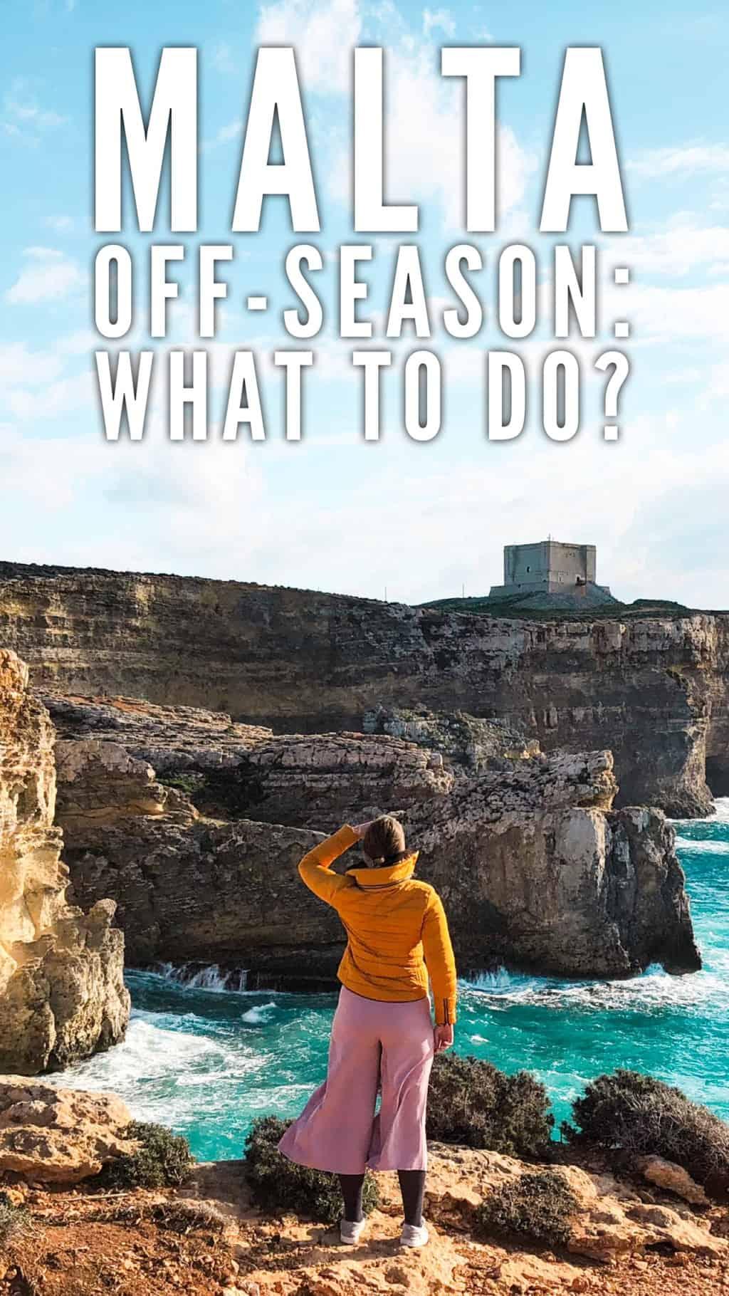 5 day itinerary for Malta in winter or spring. Christmas in Malta. Low season in Malta, Malta off-season