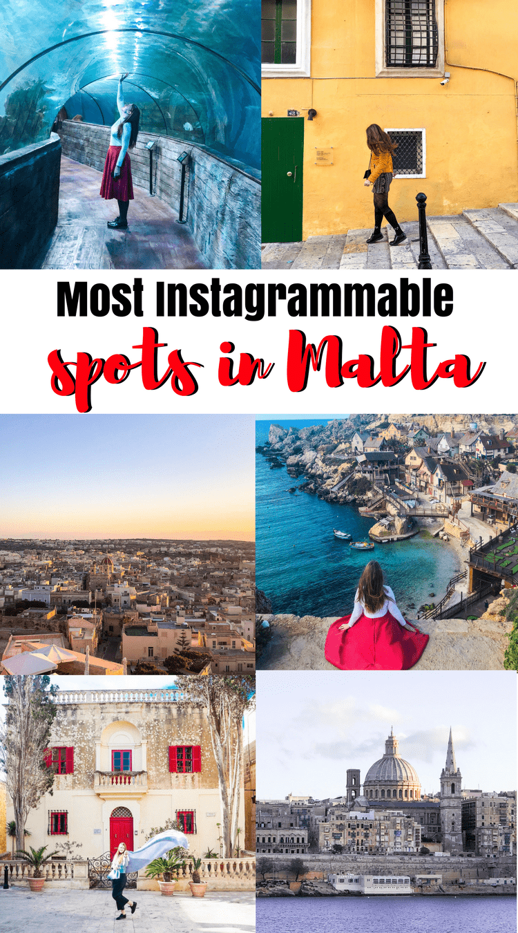 Most Instagrammable places in Malta. Instagram Guide to Malta. Gozo, Popeye Village, Blue Lagoon Malta