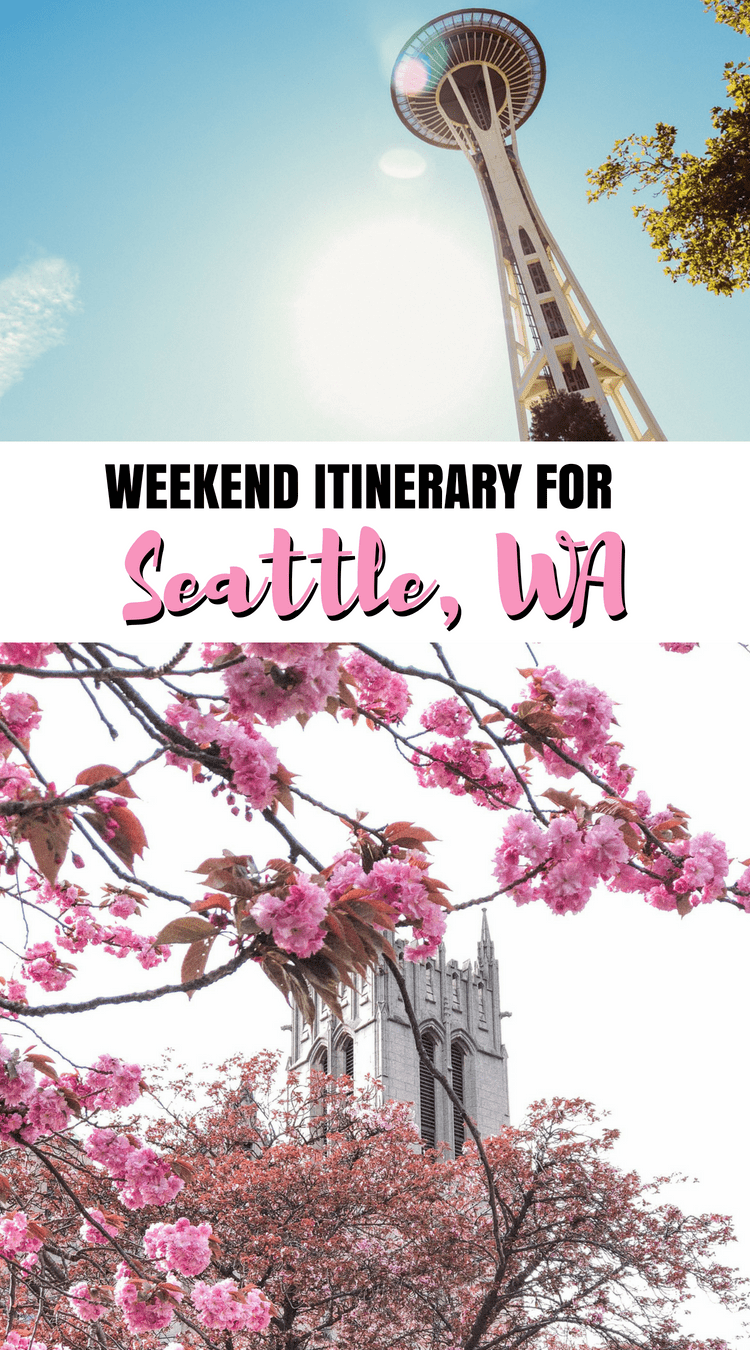 Great itinerary for a weekend in Seattle [or even one day in Seattle] #seattle