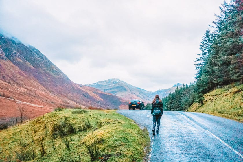 Scottish Highlands in November, road trip in Scotland in Autumn