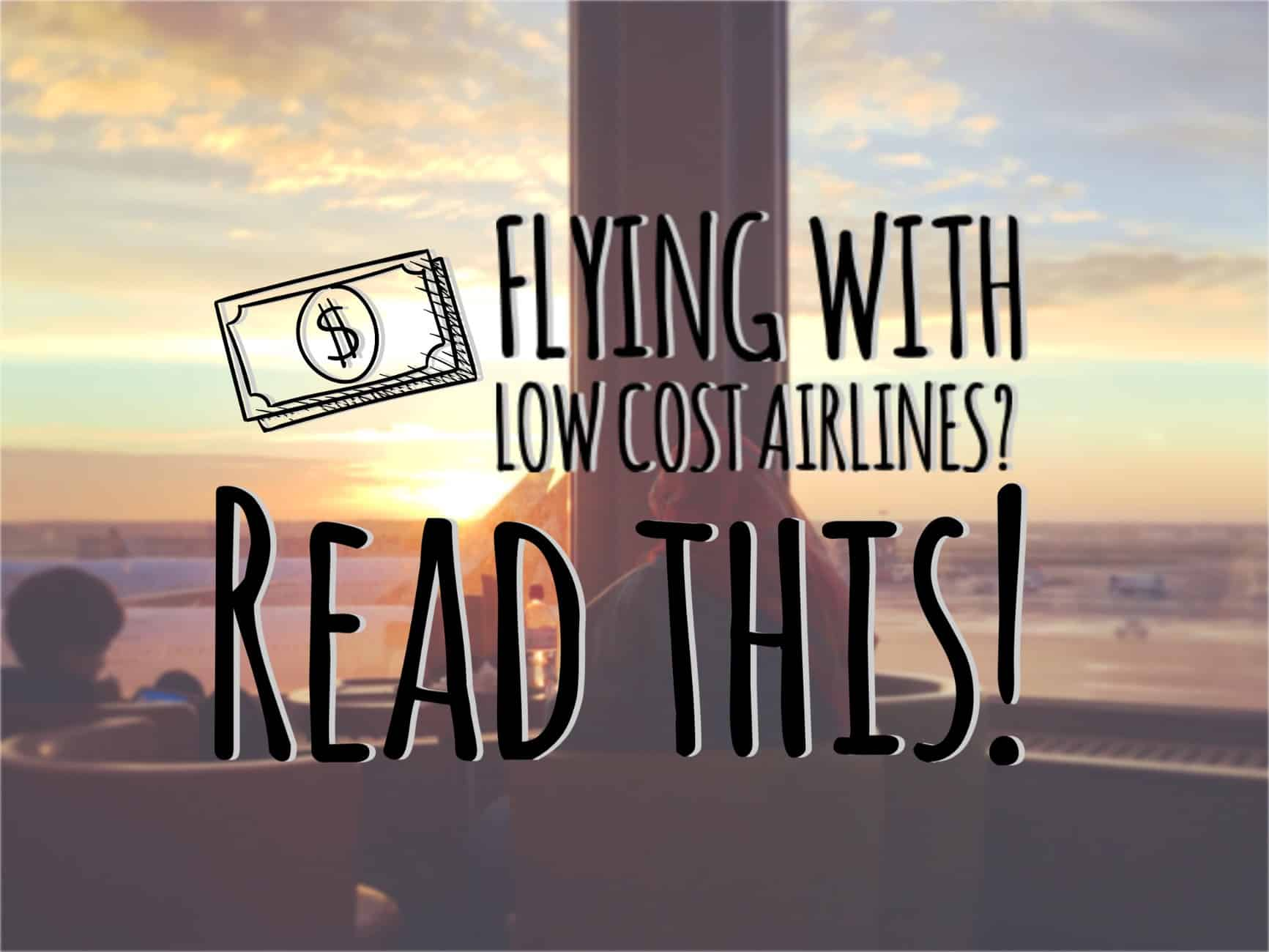 flying with low cost airlines
