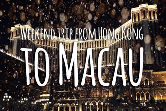 Weekend trip From Hong Kong to Macau by ferry