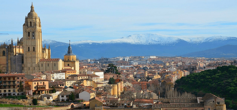 City Panorama of Segovia, one of the most underrated cities in Europe