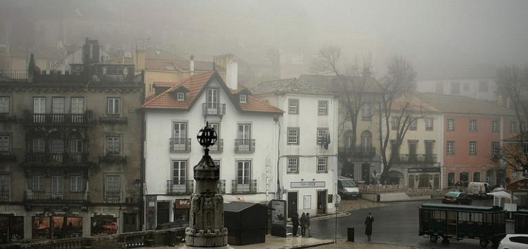 Beautiful foggy Sintra in Portugal