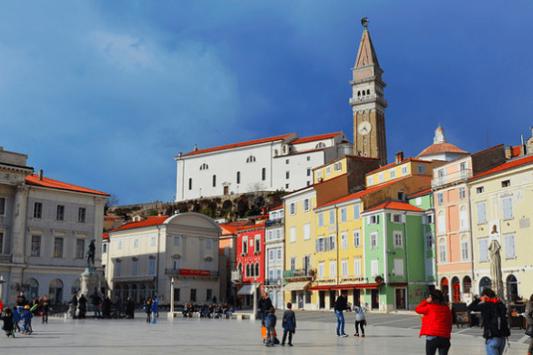 The main square of Piran, Slovenia. Looks a little bit like Venice