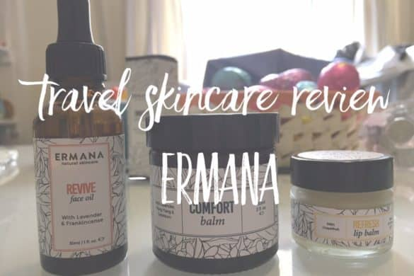 Best travel skincare set - botanical cosmetics by Ermana Natural Skincare
