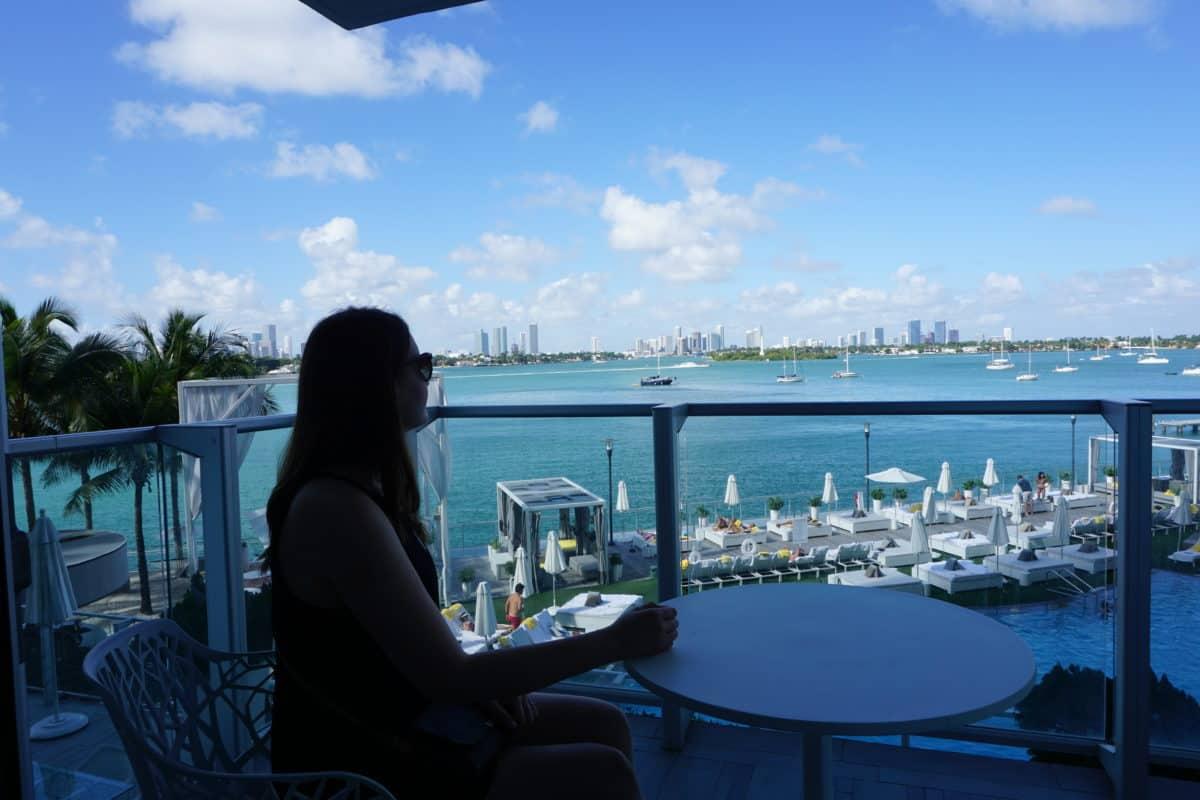 Having breakfast in Miami