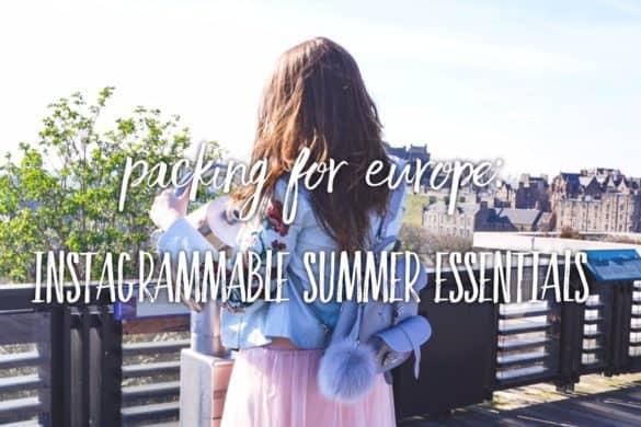 My instagrammable summer essentials