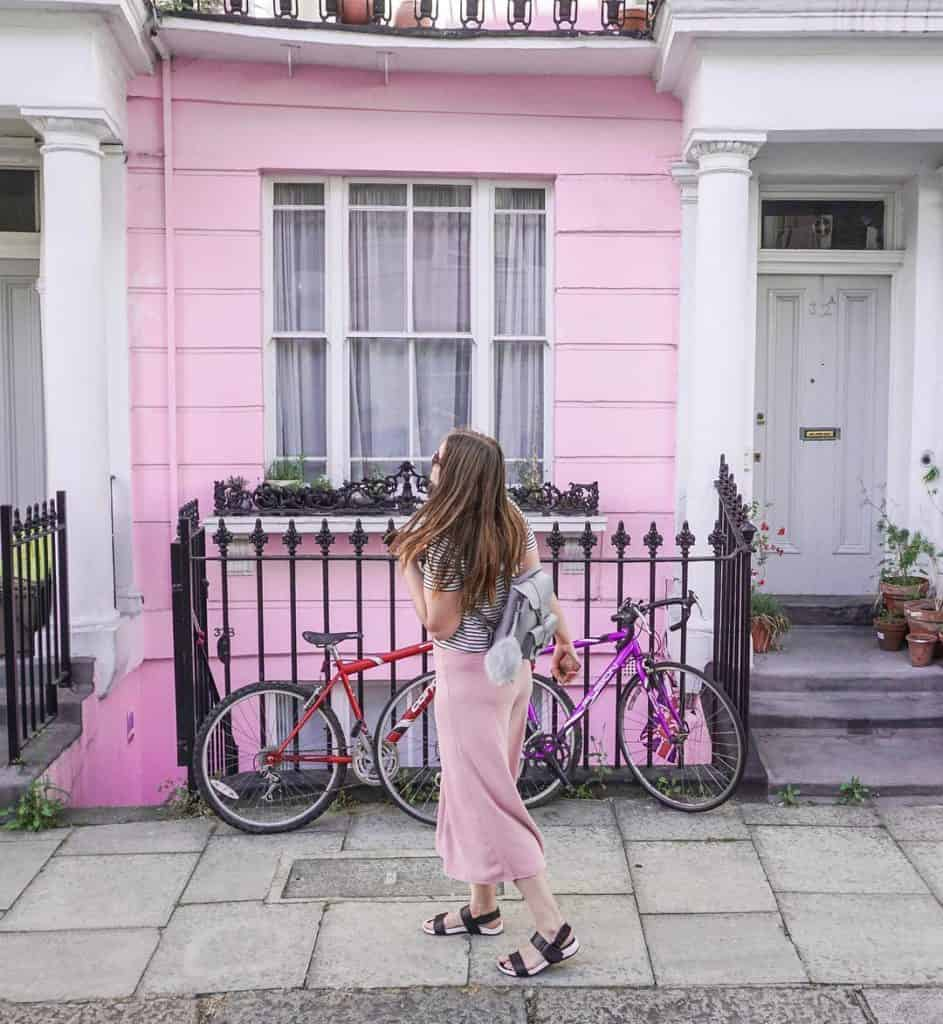 These lovely colorful houses in London!