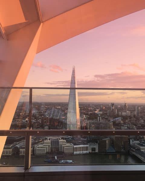 London Sky garden sunset