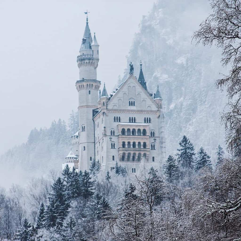Snowy locations in Europe