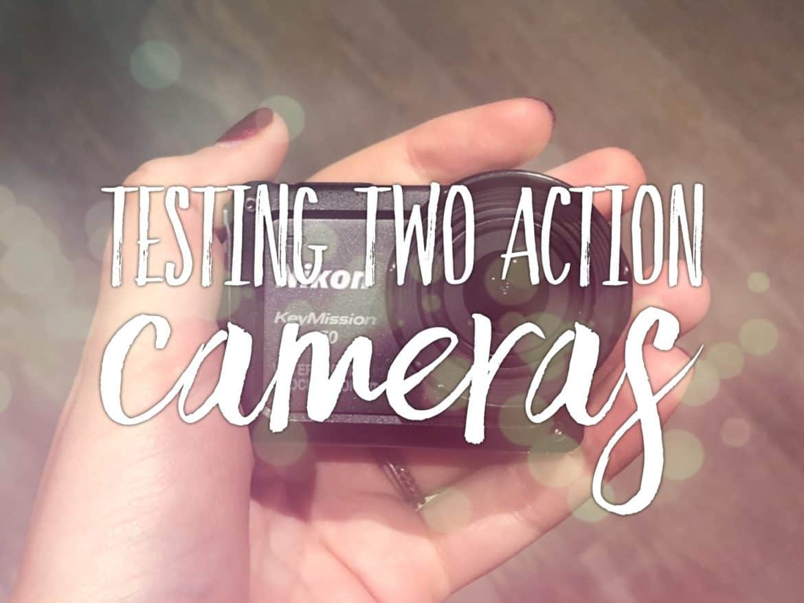 Testing two action cameras Nikon Keymission 170 and 80