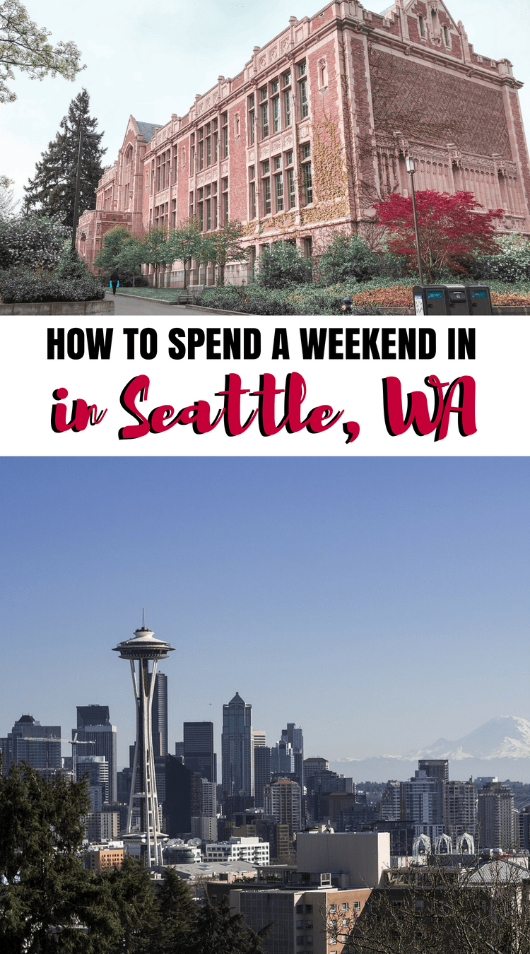Great itinerary for a weekend in seattle or even one day for Things to do in nyc next weekend