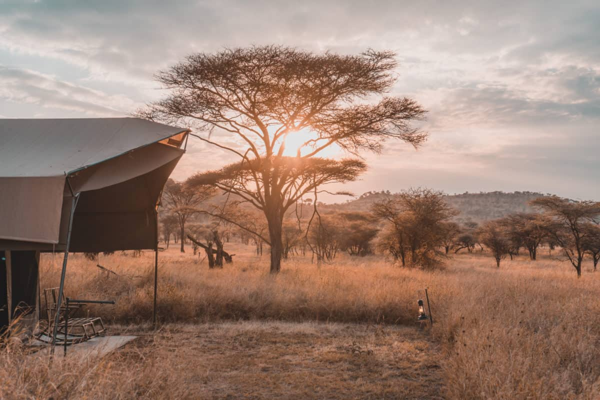 Staying in a luxury tented camp in Serengeti
