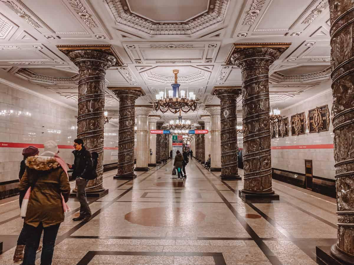 most beautiful metro stations in St Petersburg