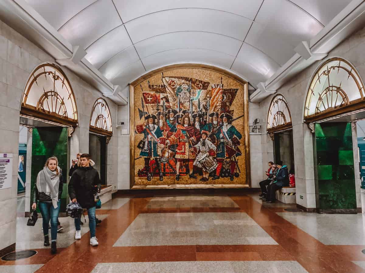 Most beautiful metro stations in St Petersburg