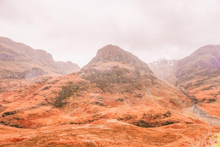 Scottish Highlands in November, road trip in Scotland in Autumn