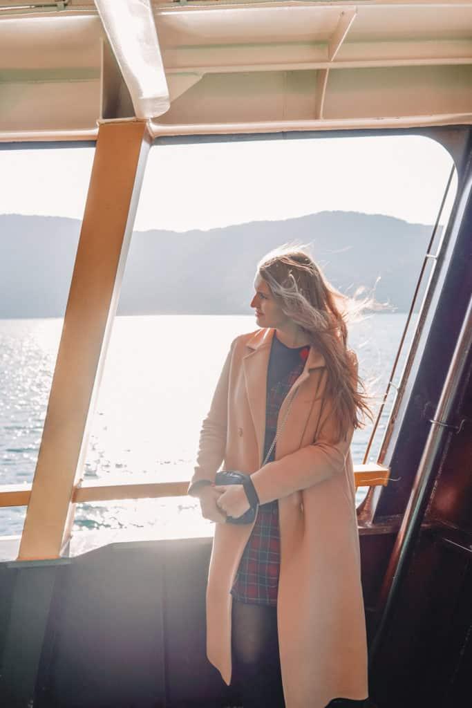 Taking the cruise in lake Ashi
