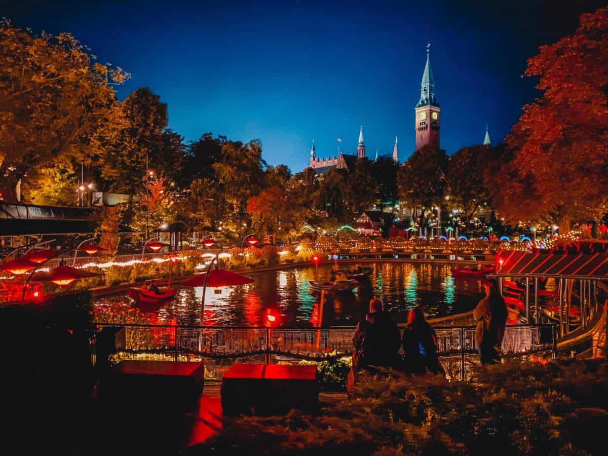 Tivoli Copenhagen at night