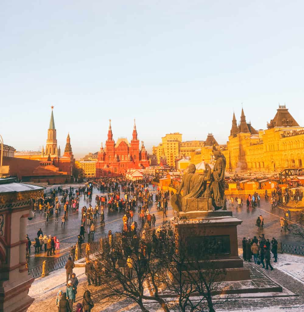 Moscow in winter. Moscow Christmas Market