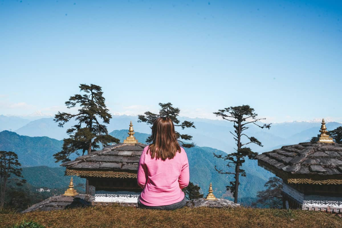 Dochula Pass - 4 days in Bhutan in winter