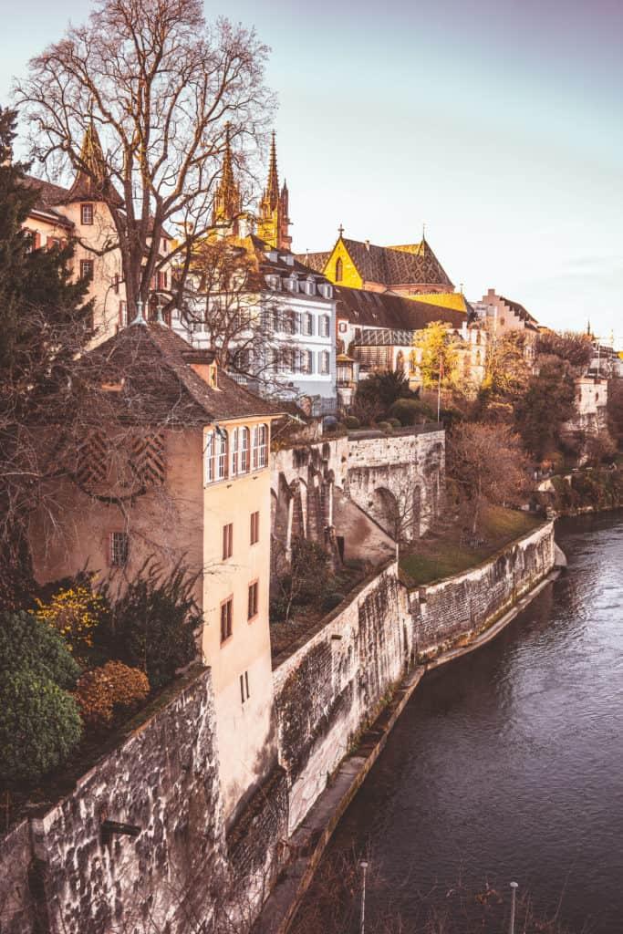 Basel Old Town. Weekend in Basel in December