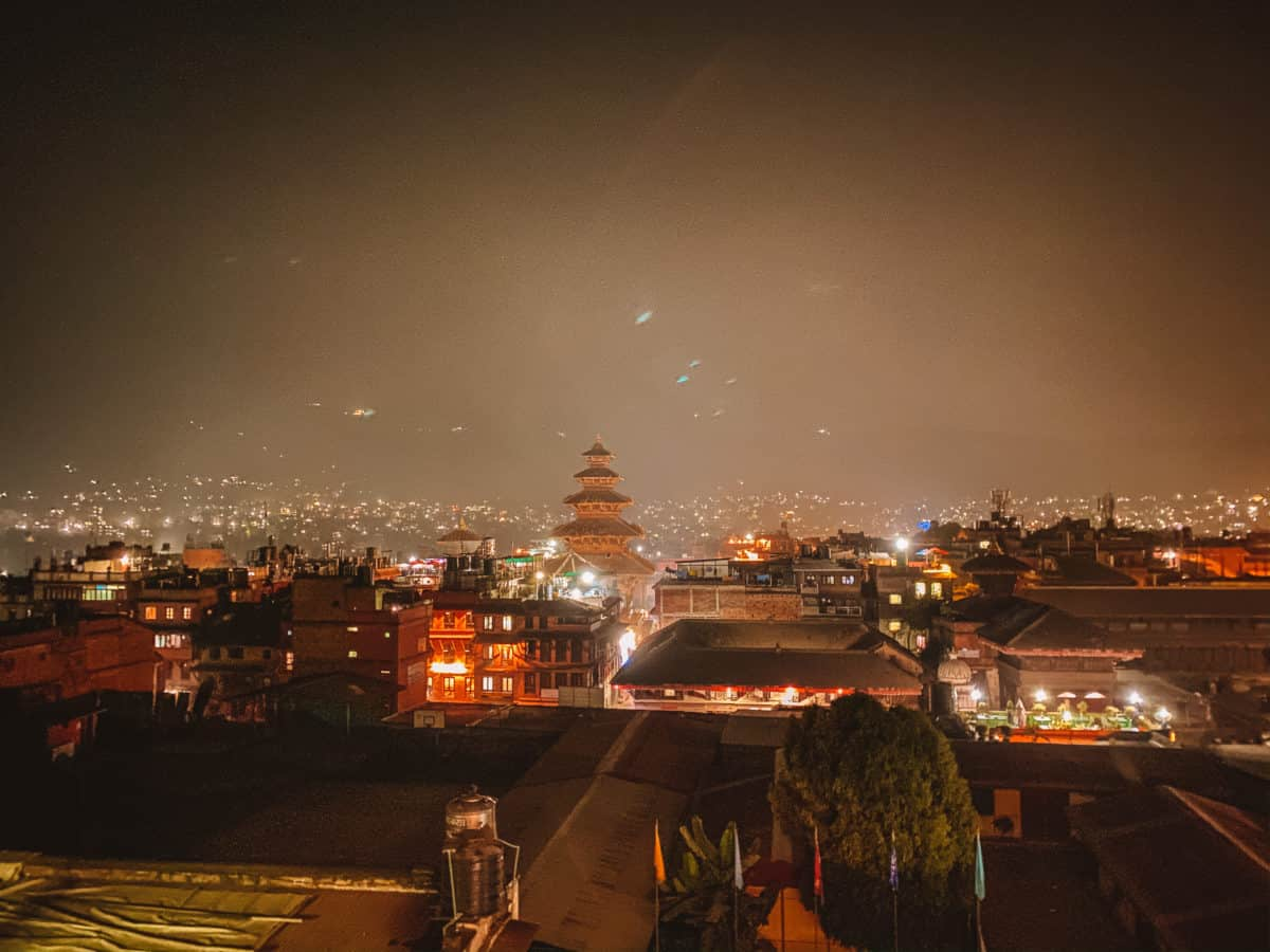 Bhaktapur at night