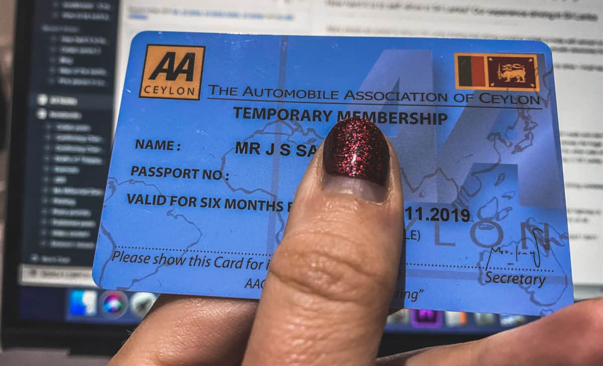 Special permit to drive in Sri Lanka