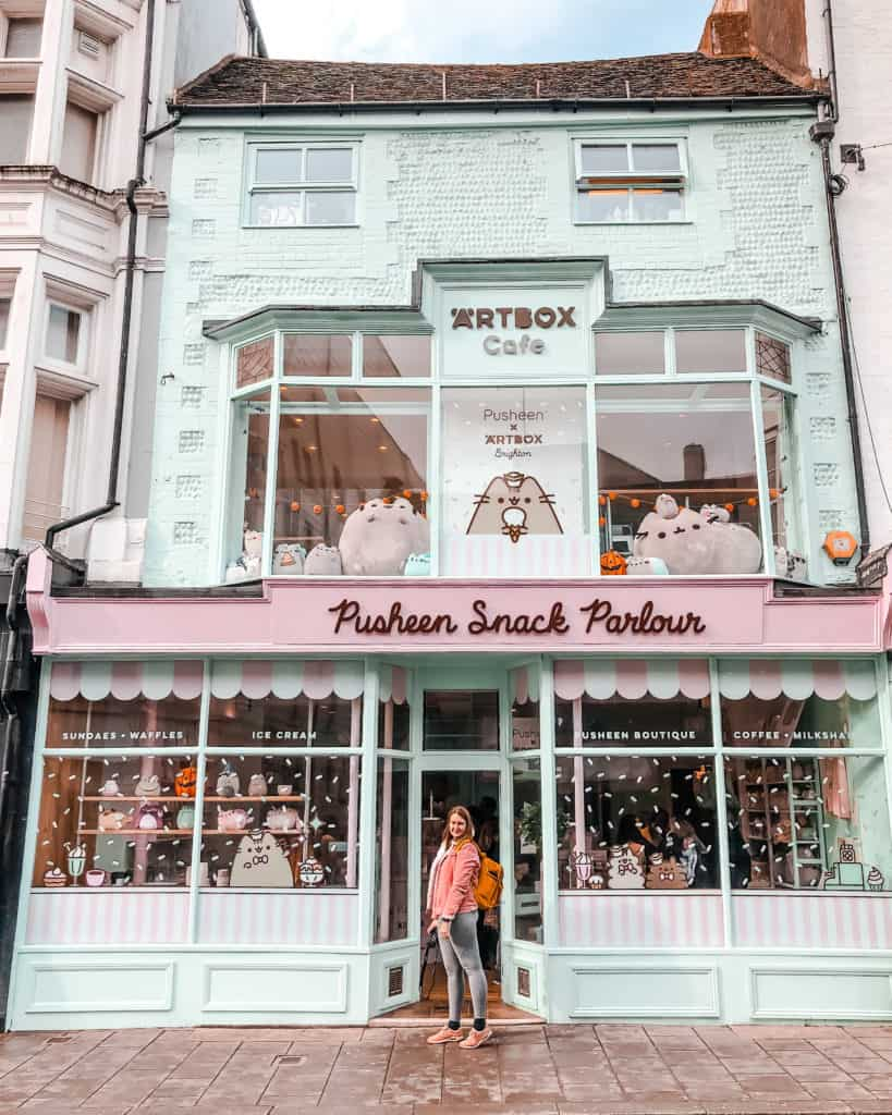 Pusheen Snack Parlour - photo guide to England