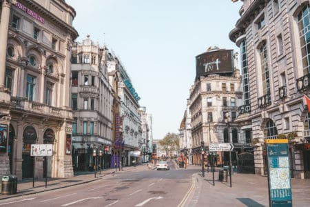 Central London without tourists