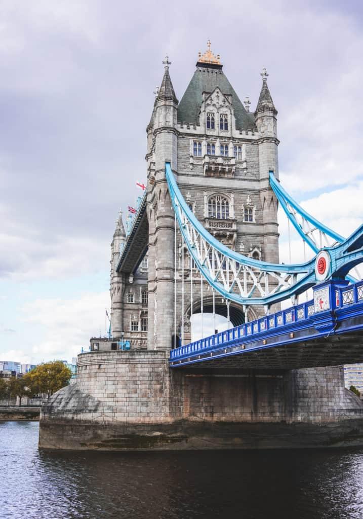 Empty Tower Bridge, London. London landmarks